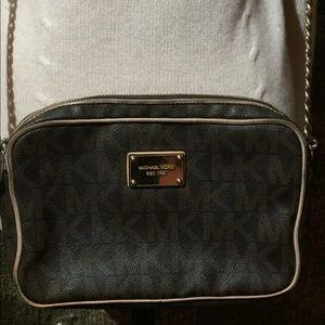 Michael Kors Black and Tan crossbody purse